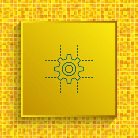 technology process icon, vector illustration. Flat design style.