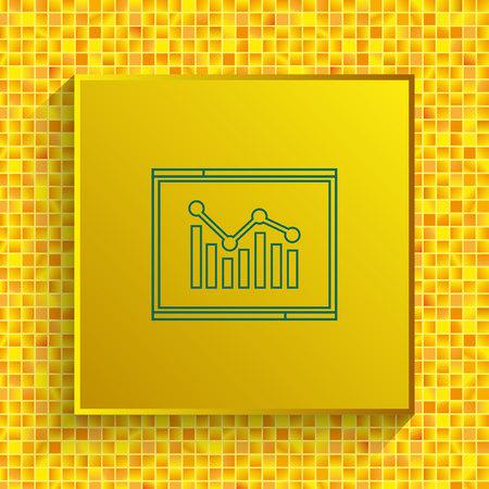 web analytics icon, Finance Icon, vector illustration. Flat design style.