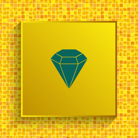 Diamond icon. Finance Icon, vector illustration. Flat design style. Illustration