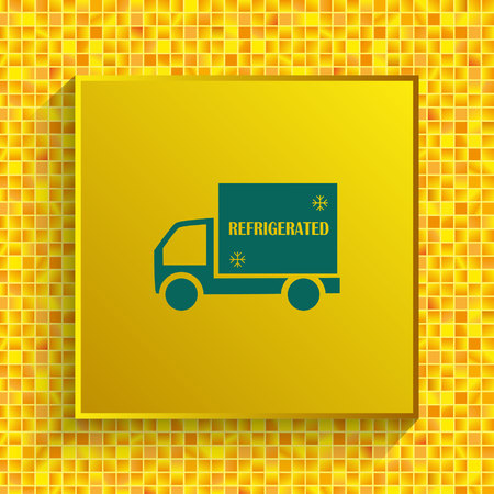 Delivery sign icon, vector illustration. Stock Illustratie