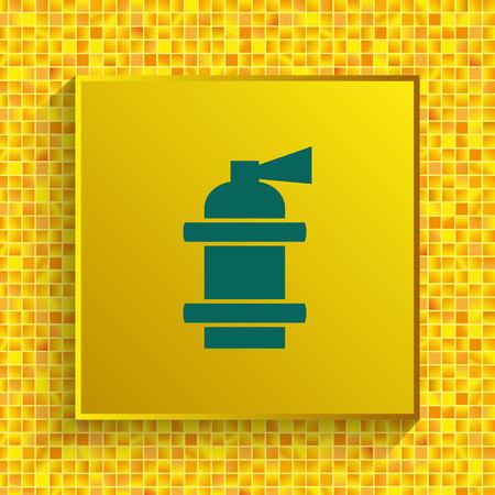 Fire extinguisher icon. Vector illustration. Illustration