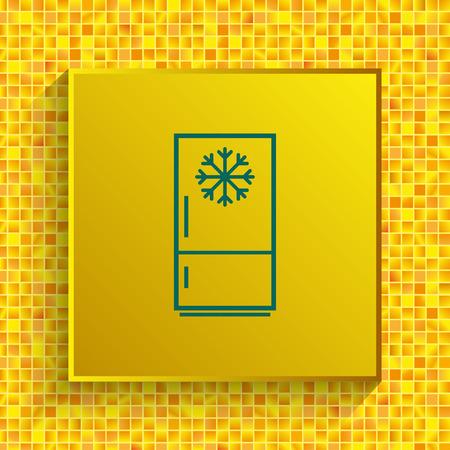 Home appliances icon. Refrigerator icon. Vector illustration. Kitchenware. Vectores
