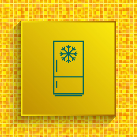 Home appliances icon. Refrigerator icon. Vector illustration. Kitchenware. 向量圖像