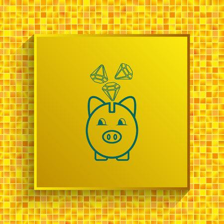 Diamond icon. Finance Icon, vector illustration. Flat design style. Illustration
