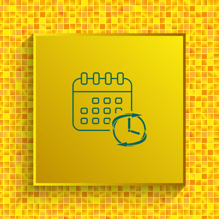 timing icon, vector illustration. Flat design style.