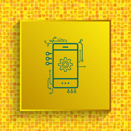 Technology process icon vector illustration.