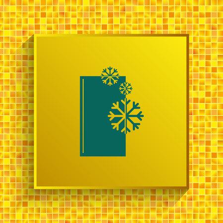 Home appliances icon. Refrigerator icon vector illustration. Illustration