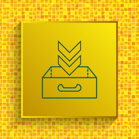Project inbox icon vector illustration. Illustration