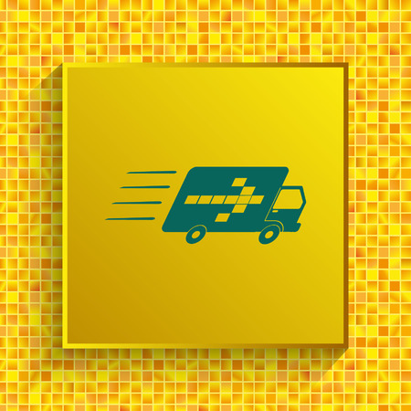 Delivery sign icon vector illustration.