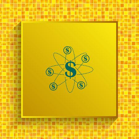 budget spending icon, Finance Icon, vector illustration. Flat design style.