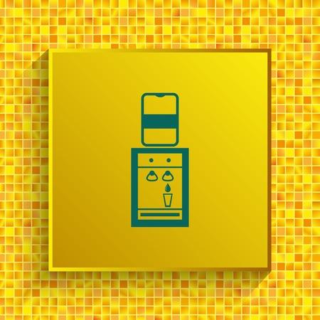 Water Cooler icon, vector illustration. Ilustração
