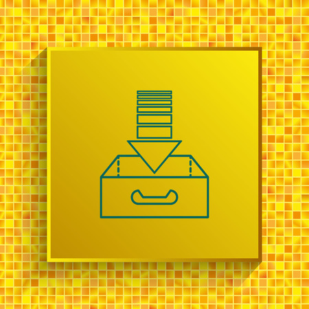 project inbox Icon, vector illustration. Flat design style.