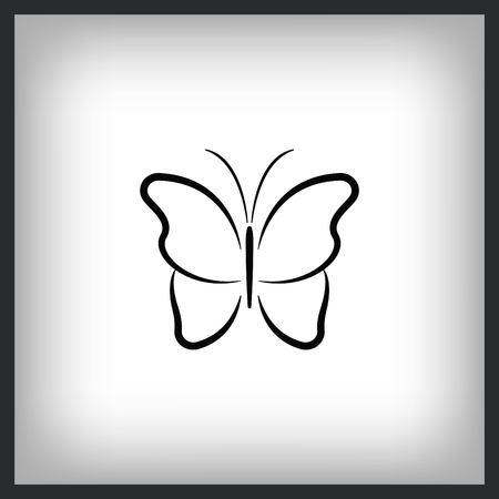 Butterfly icon, vector illustration. Stock Illustratie