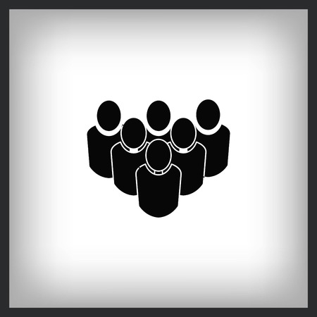 Group of people icon, vector illustration Illustration