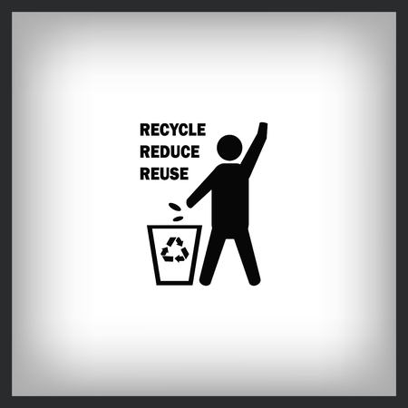 Throw away the trash icon, recycle icon Stock Vector - 96770879