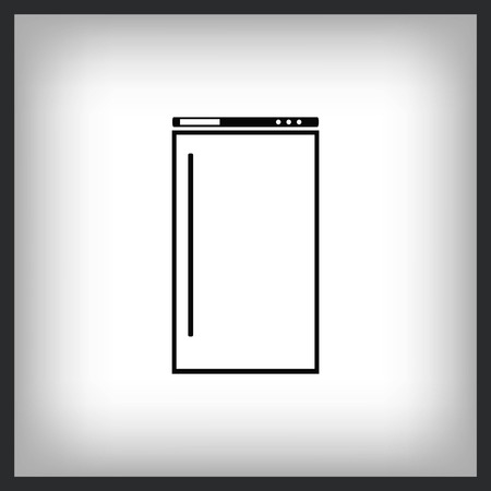 Home appliances icon -  Refrigerator icon. Vector illustration.
