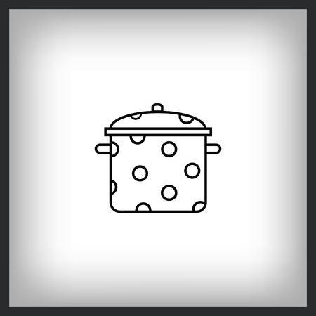 Home appliances icon. pan icon. Vector illustration. Illusztráció