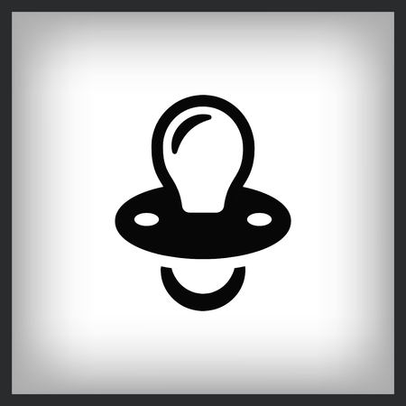 Babys pacifier icon. Child pacifier symbol, vector illustration. Flat design style