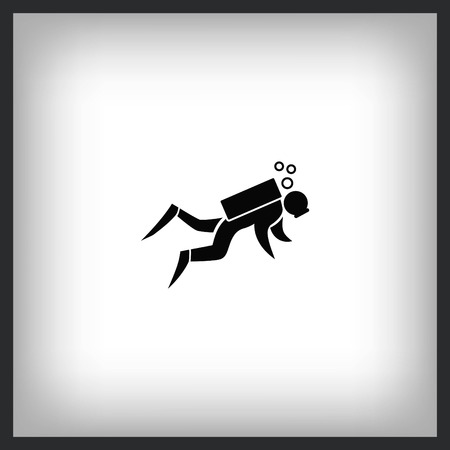 Sport icon , Diver diving icon. vector illustration. Flat design style