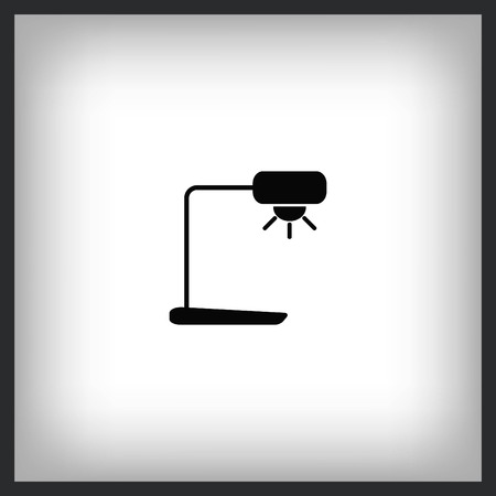 Home appliances icon of a floor lamp. Vector illustration. Stock Illustratie
