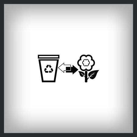 Throw away the trash icon, recycle icon Stock Illustratie