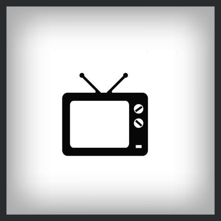 Home appliances icon. TV icon. Vector illustration.
