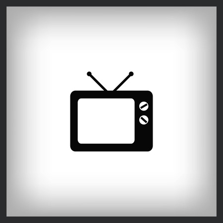 TV icon. Vector illustration.
