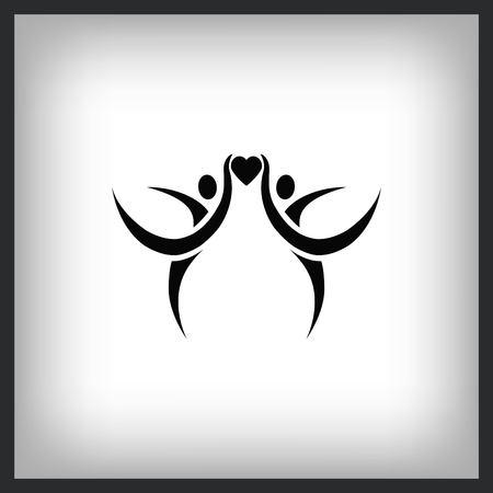 Family icon, vector illustration. Flat design style Stock Illustratie