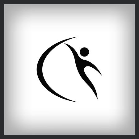Sport icon, vector illustration. Flat design style