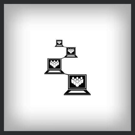 ocial network icon, vector illustration