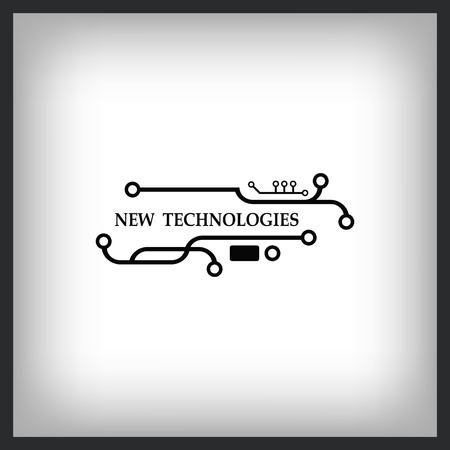Technology innovation icon design Illustration