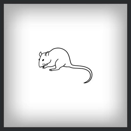 Mouse icon. Illustration