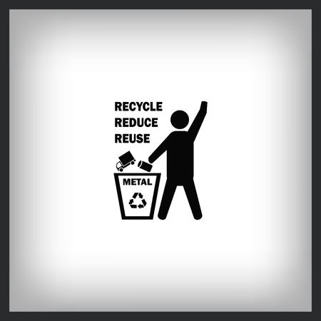 Throw away the trash icon, recycle icon Stock Vector - 96837290