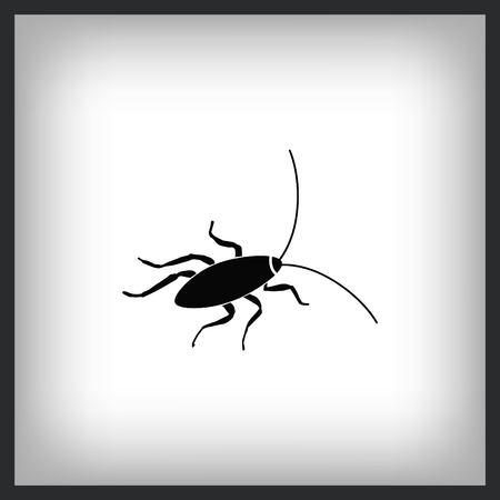 Cockroach icon, pest icon, vector illustration. Vettoriali