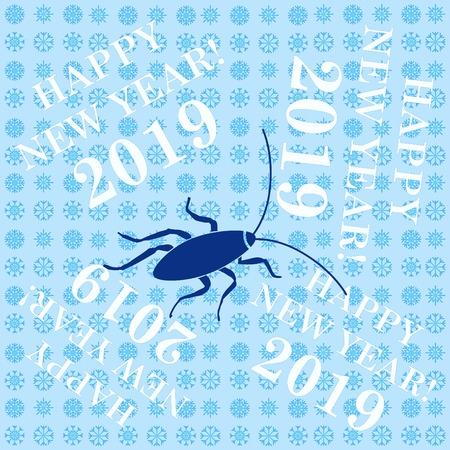 Icona di scarafaggio, icona di parassiti, illustrazione vettoriale.