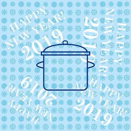Home appliances icon. pan icon. Vector illustration. Illustration