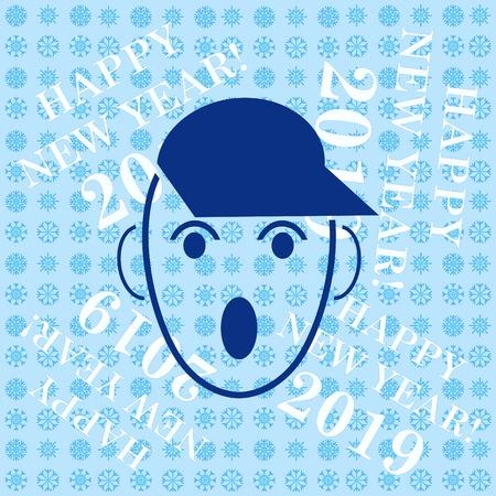 Icono de niño enojado. Ilustración de vector