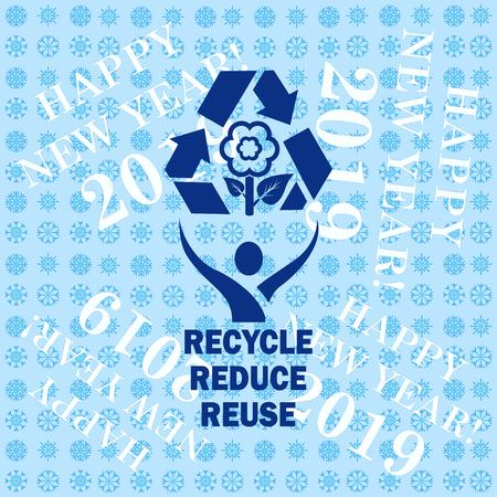 Throwing trash , recycle, pollution, recycling and eco icon. Concept of ecology problem. Flat Vector illustration.  イラスト・ベクター素材