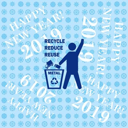 Throw away the trash icon, recycle icon Ilustração