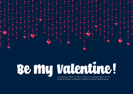 be: Be My Valentine Greeting Card Illustration