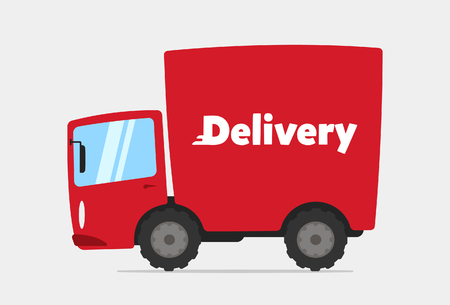 Cartoon Delivery Truck Stock Vector - 70385762
