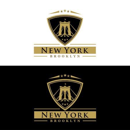 brooklyn bridge drawing - New York symbol - vector illustration Banco de Imagens - 47904153