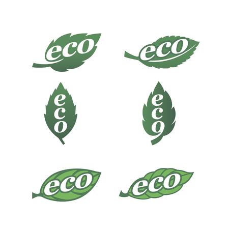 eco icons: Set of natural labels. Eco icons