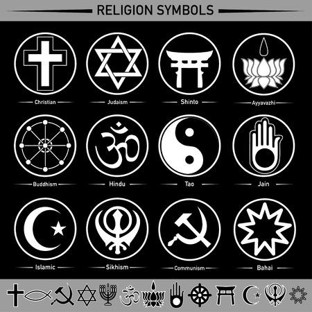 Ogni religione nei segni e simboli Archivio Fotografico - 47904048