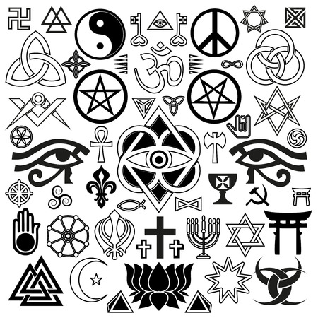 pentagram: world religious and occult symbols