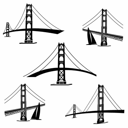 the bay: Golden Gate Bridge San Francisco Illustration