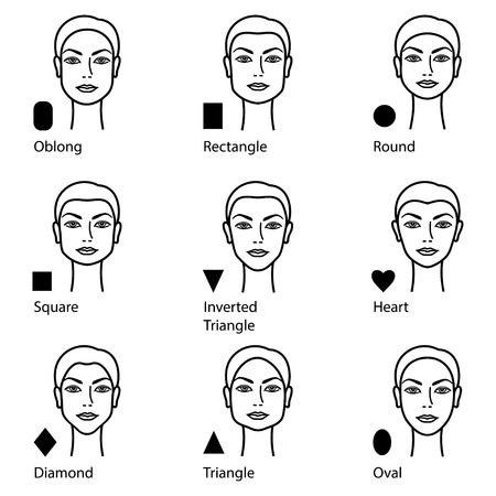 Forms of a female face