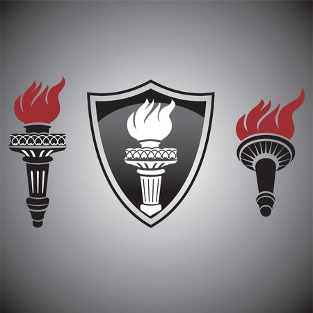 signs and symbols: torch with fire signs and symbols