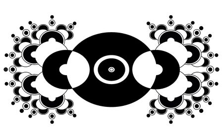 unexplained: Abstract crop circle Illustration