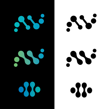 genetic: DNA, genetic sign, elements and icons collection Illustration